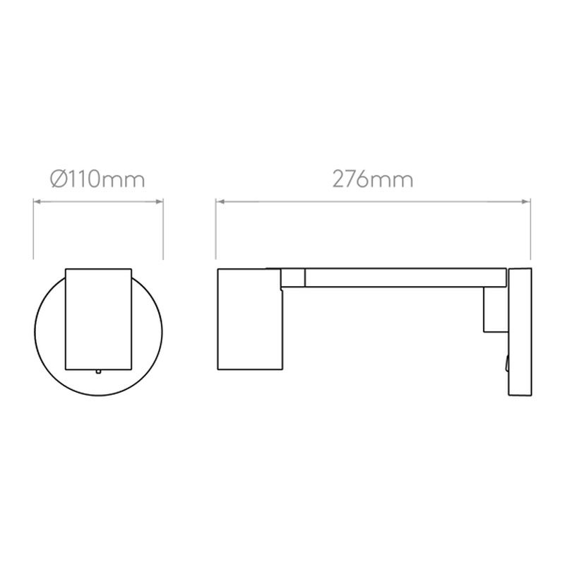 Astro Ascoli Swing Arm Wall Light Line Drawing