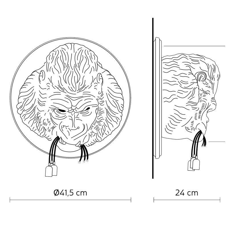 Karman Ugo Rilla Wall Light Line Drawing