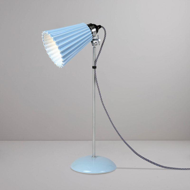 Original Btc Hector Pleat Medium Table Lamp Blue