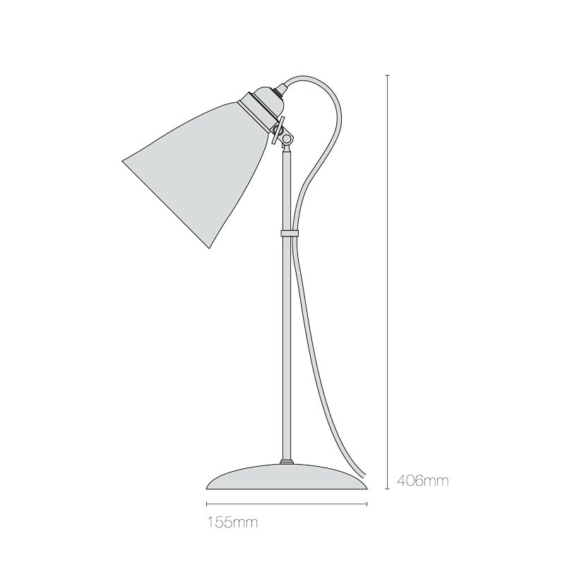 Original Btc Hector Pleat Medium Table Lamp Line Drawing
