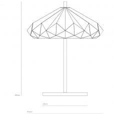 Original Btc Hatton 4 Table Lamp Line Drawing