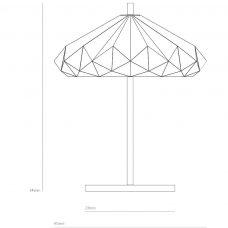 Original Btc Hatton 4 Table Lamp Line Drawing