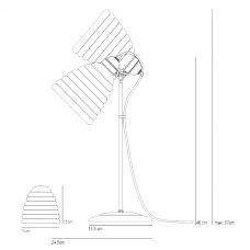 Original Btc Hector Bibendum Table Lamp Line Drawing