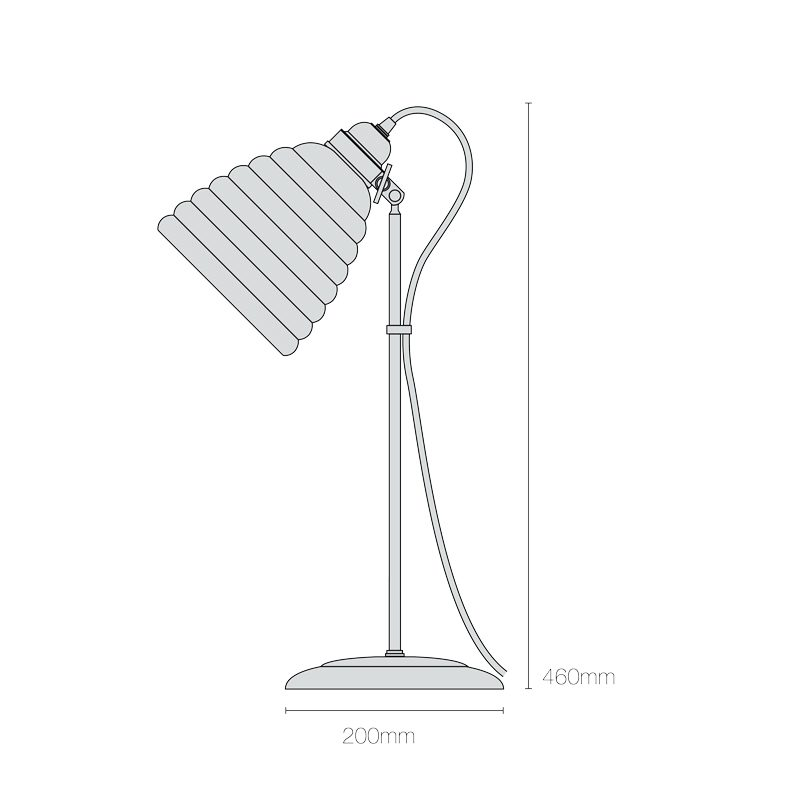 Original Btc Hector Bibendum Table Lamp Line Drawing