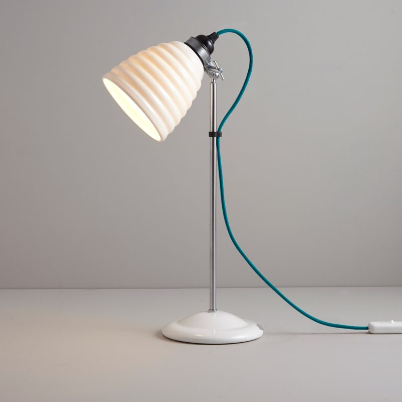 Original Btc Hector Bibendum Table Lamp Turquoise Cable