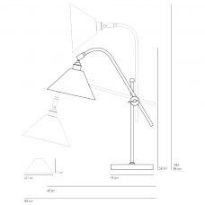 Original Btc Task Ceramic Table Light Line Drawing