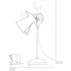 Original Btc Teacup Table Lamp Line Drawing