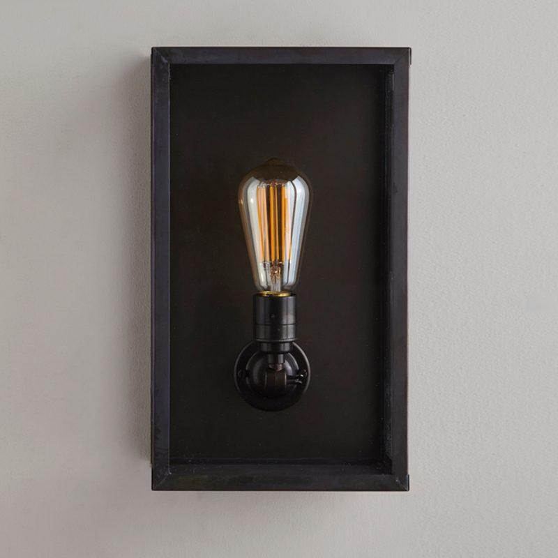 Davey Lighting Box Medium Internal Wall Light Clear Glass
