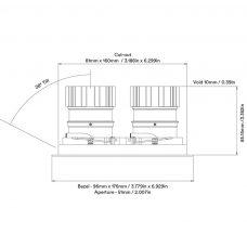 Orluna Look Twin Adjustable Downlight Line Drawing