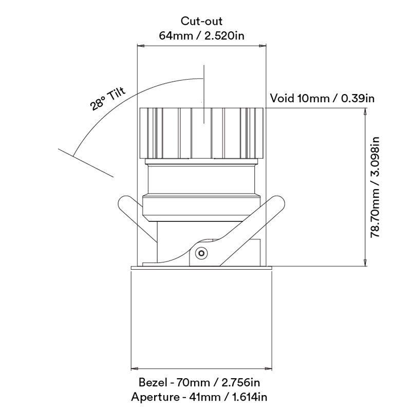 Orluna Mina Adjustable Downlight Line Drawing