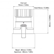 Orluna Suri Fixed Downlight Line Drawing A