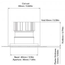 Orluna True Fixed Downlight Line Drawing