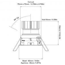 Orluna Vira Adjustable Downlight Line Drawing