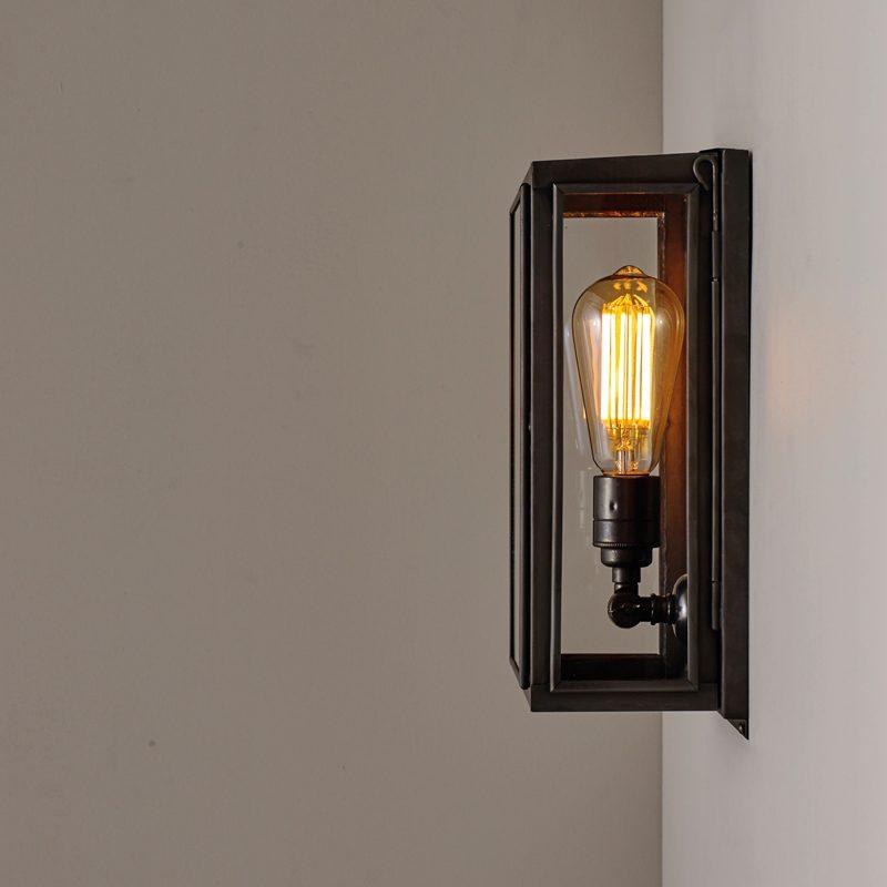 Davey Lighting Box Small External Wall Light Clear Glass C