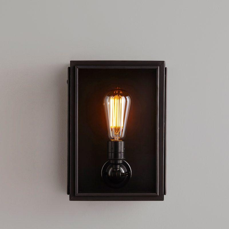 Davey Lighting Box Small External Wall Light Clear Glass