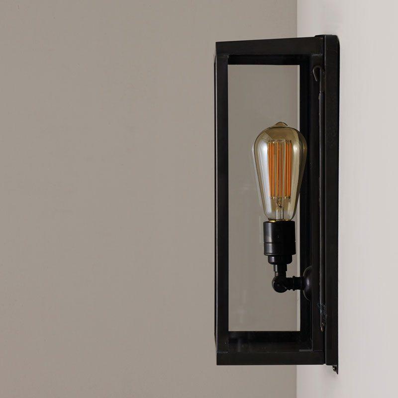 Davey Lighting Box Medium Internal Wall Light Clear Glass A Off