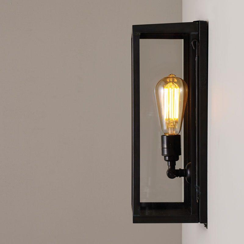 Davey Lighting Box Medium Internal Wall Light Clear Glass A On