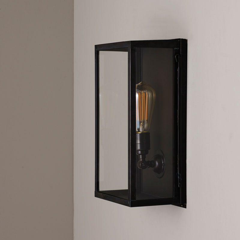 Davey Lighting Box Medium Internal Wall Light Clear Glass B Off
