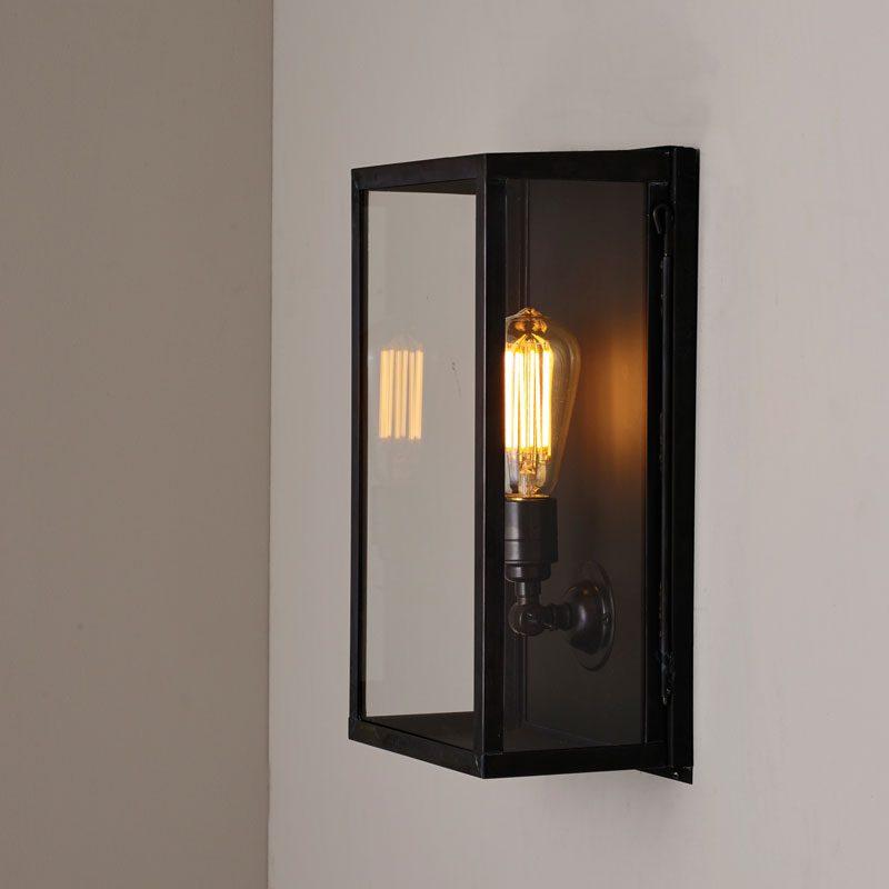 Davey Lighting Box Medium Internal Wall Light Clear Glass B On