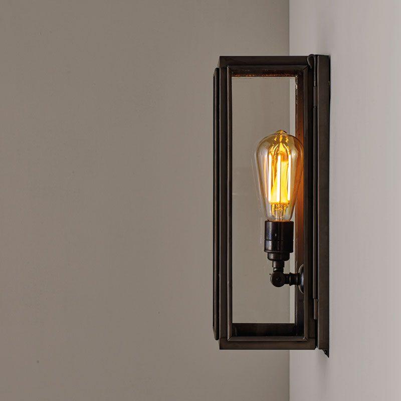 Davey Lighting Box Narrow External Wall Light Clear Glass C On