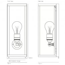 Davey Lighting Box Narrow Internal Wall Light Line Drawing