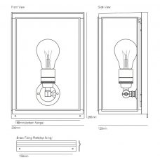 Davey Lighting Box Small External Wall Light Line Drawing
