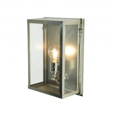 Davey Lighting Box Small Internal Wall Light Polished Nickel Clear Glass