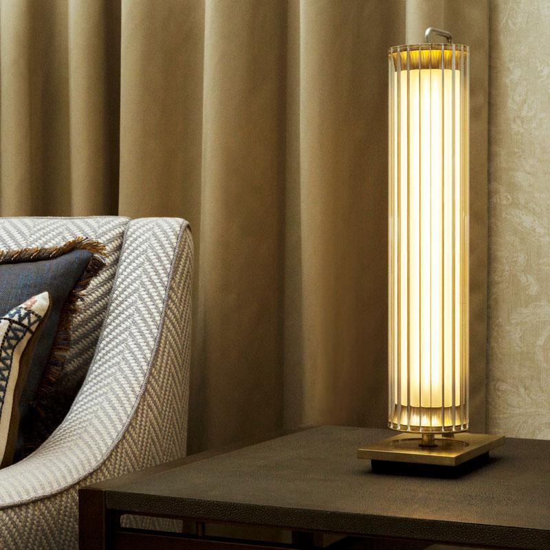 Jonathan Coles Fresnel Table Lamp Brass G