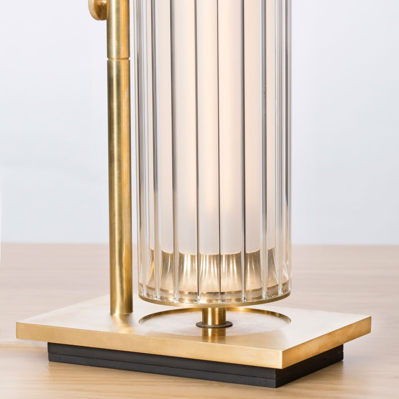 Jonathan Coles Fresnel Table Lamp Brass H