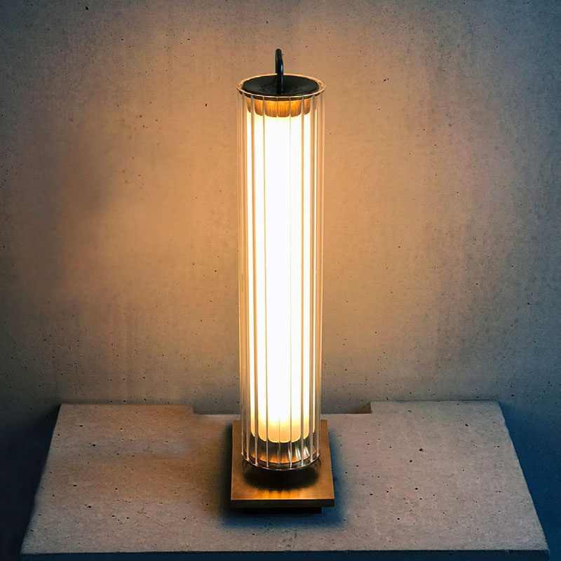 Jonathan Coles Fresnel Table Lamp Brass