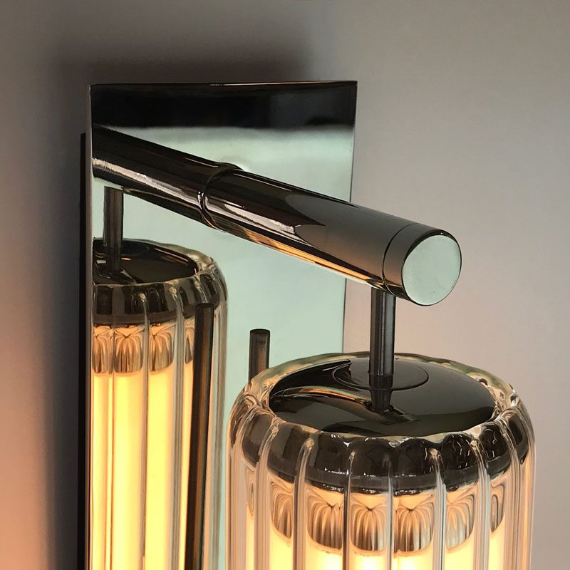Jonathan Coles Fresnel Wall Light Brass B