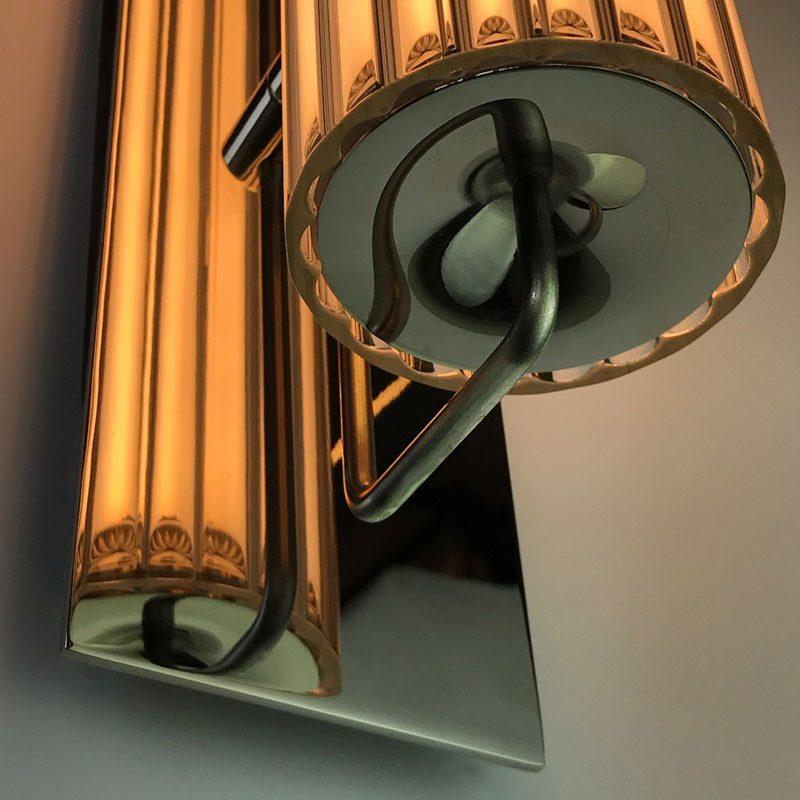 Jonathan Coles Fresnel Wall Light Brass C