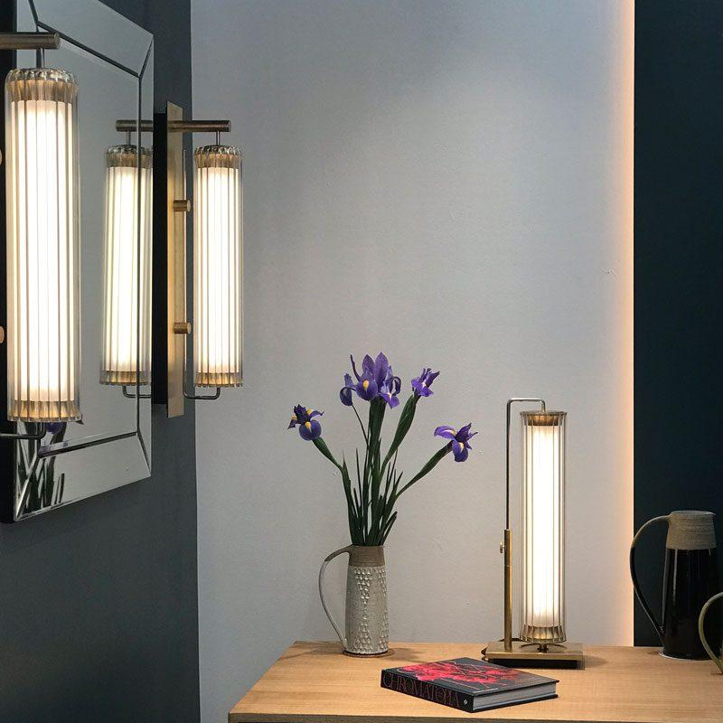 Jonathan Coles Fresnel Wall Light Brass D