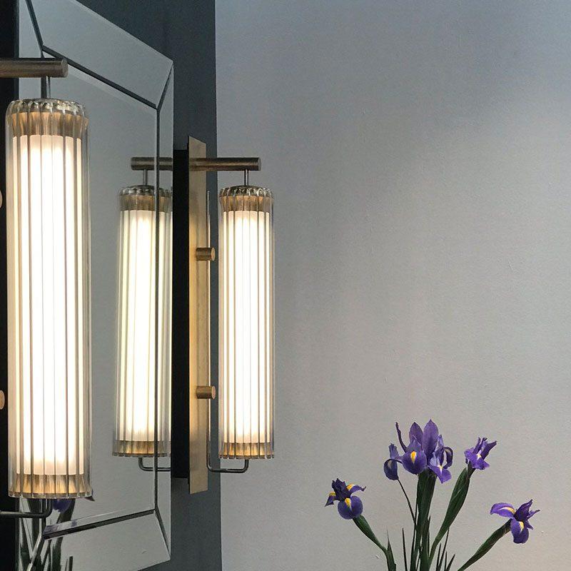 Jonathan Coles Fresnel Wall Light Brass E