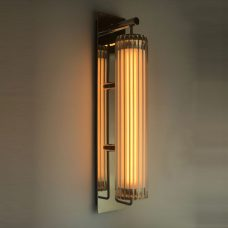 Jonathan Coles Fresnel Wall Light Brass