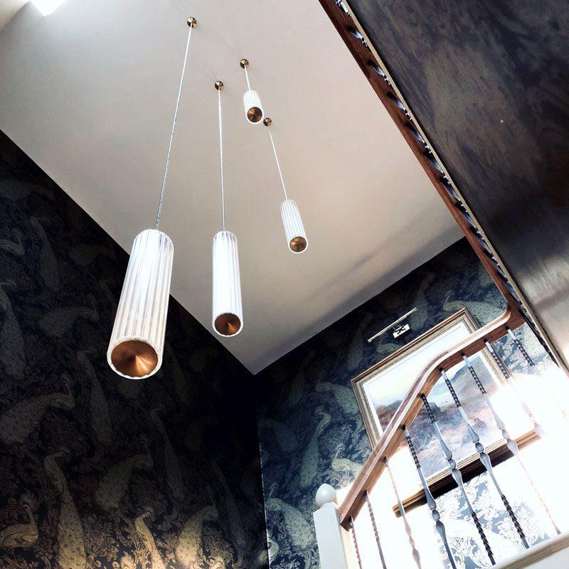 Jonathan Coles Fresnel Pendant Light Brass F