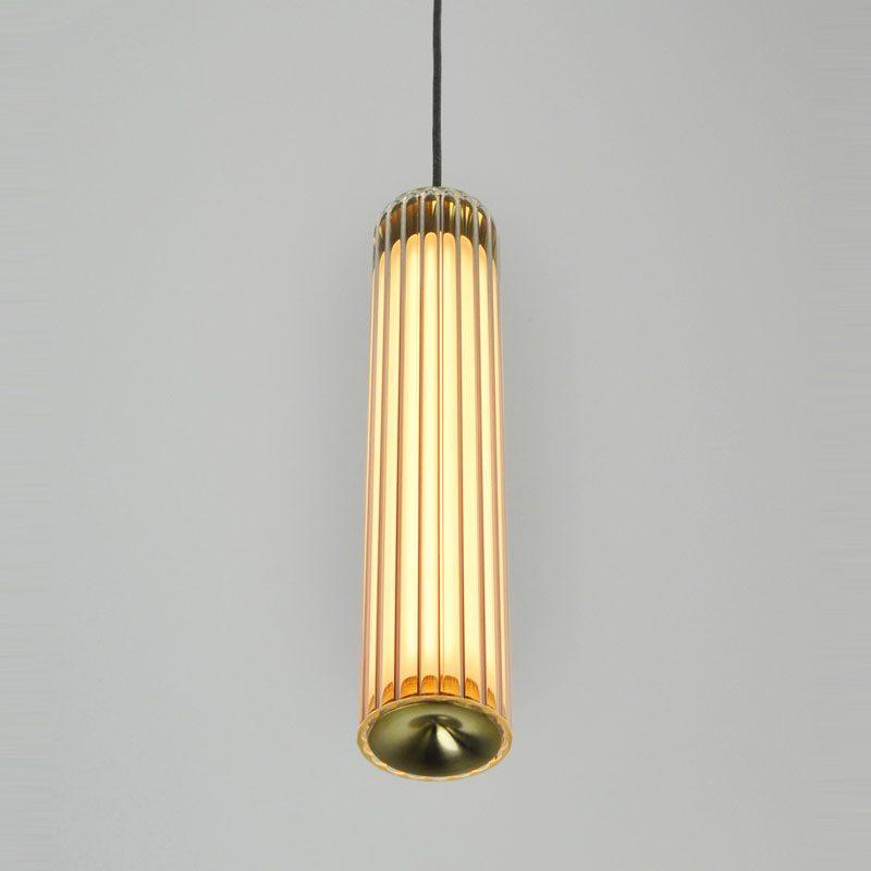 Jonathan Coles Fresnel Pendant Light Brass