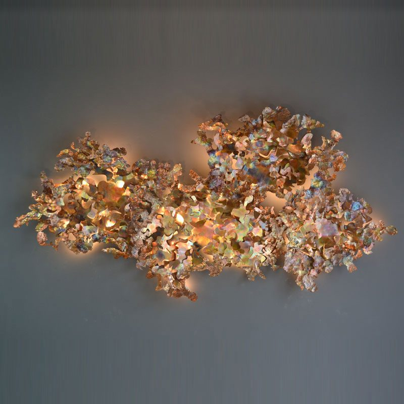 Jonathan Coles Copper Leaf Wall Light Copper
