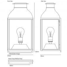 Davey Lighting Wall Lantern Wall Light Line Drawing