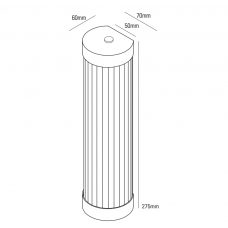 Davey Lighting Extra Narrow Pillar 27 Led Wall Light Line Drawing