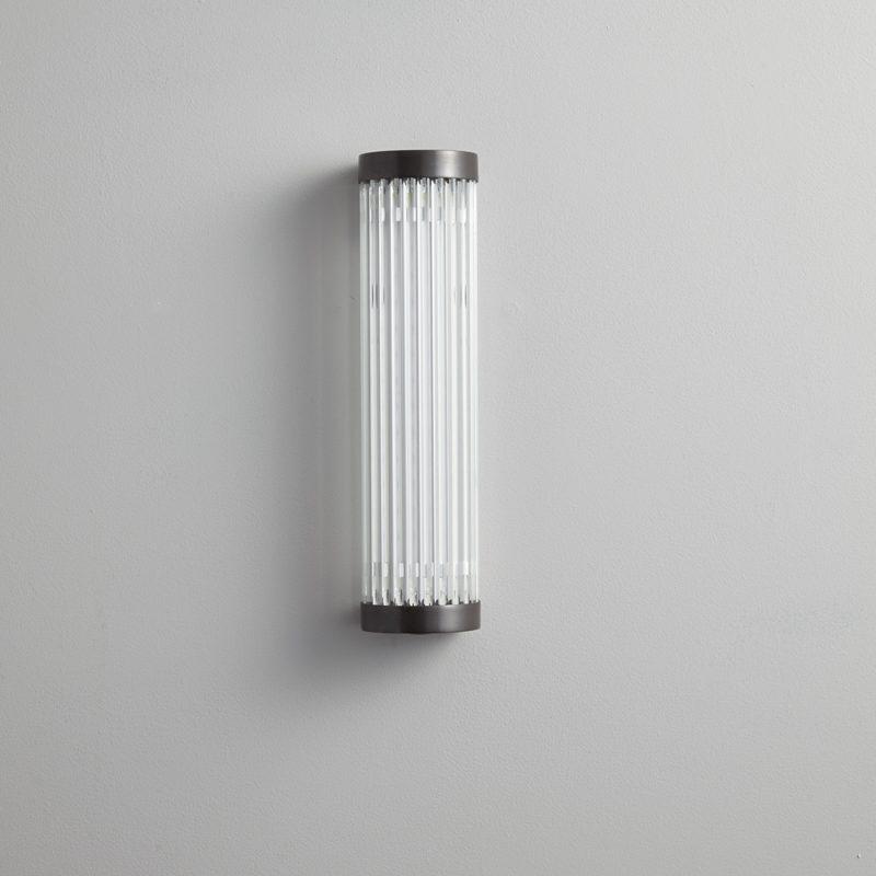 Davey Lighting Extra Narrow Pillar 27 Led Wall Light Weathered Brass B Off