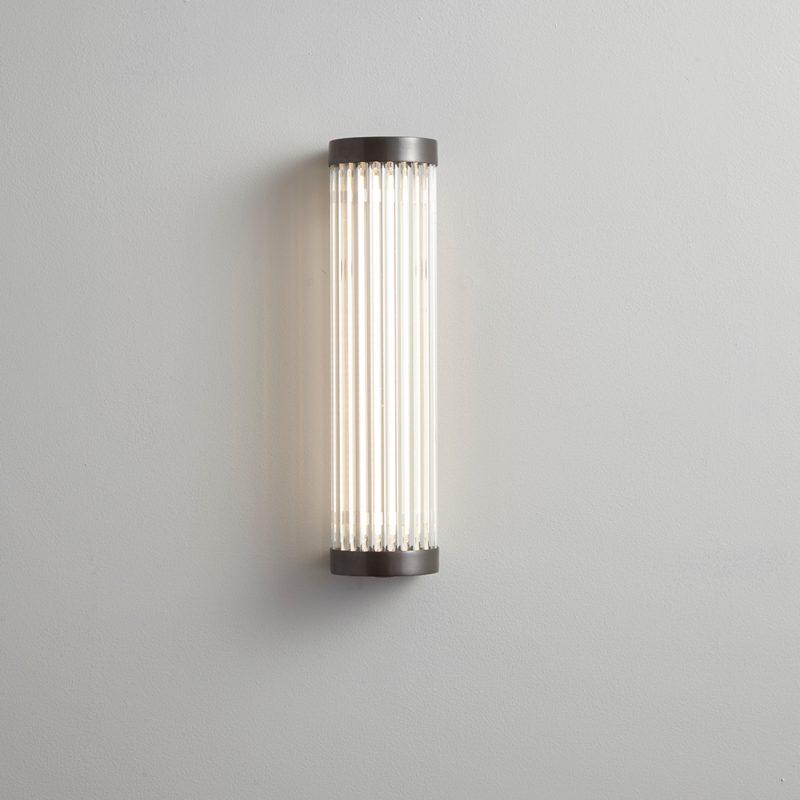 Davey Lighting Extra Narrow Pillar 27 Led Wall Light Weathered Brass B On
