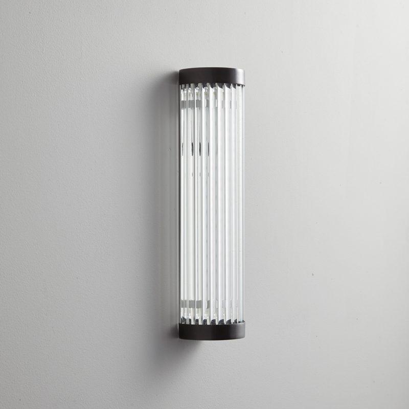 Davey Lighting Extra Narrow Pillar 27 Led Wall Light Weathered Brass Off