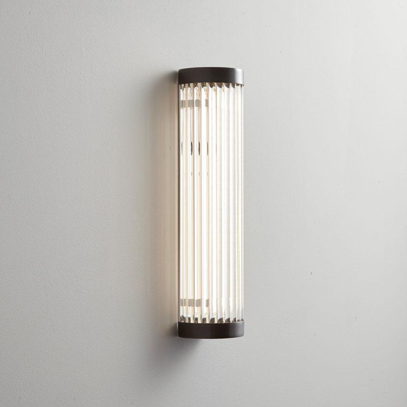 Davey Lighting Extra Narrow Pillar 27 Led Wall Light Weathered Brass On