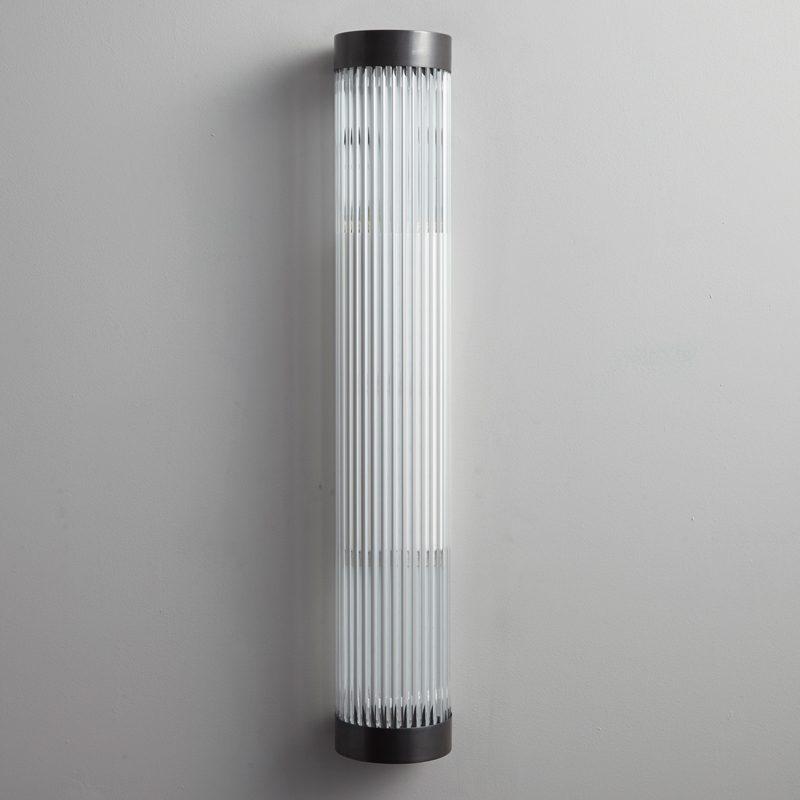 Davey Lighting Narrow Pillar 60 Led Wall Light Weathered Brass B Off