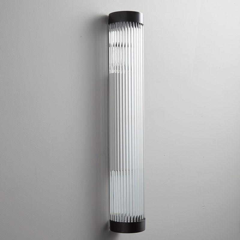 Davey Lighting Narrow Pillar 60 Led Wall Light Weathered Brass Off