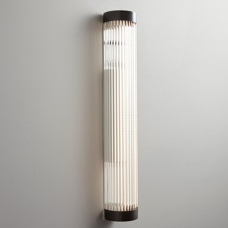 Davey Lighting Narrow Pillar 60 Led Wall Light Weathered Brass On