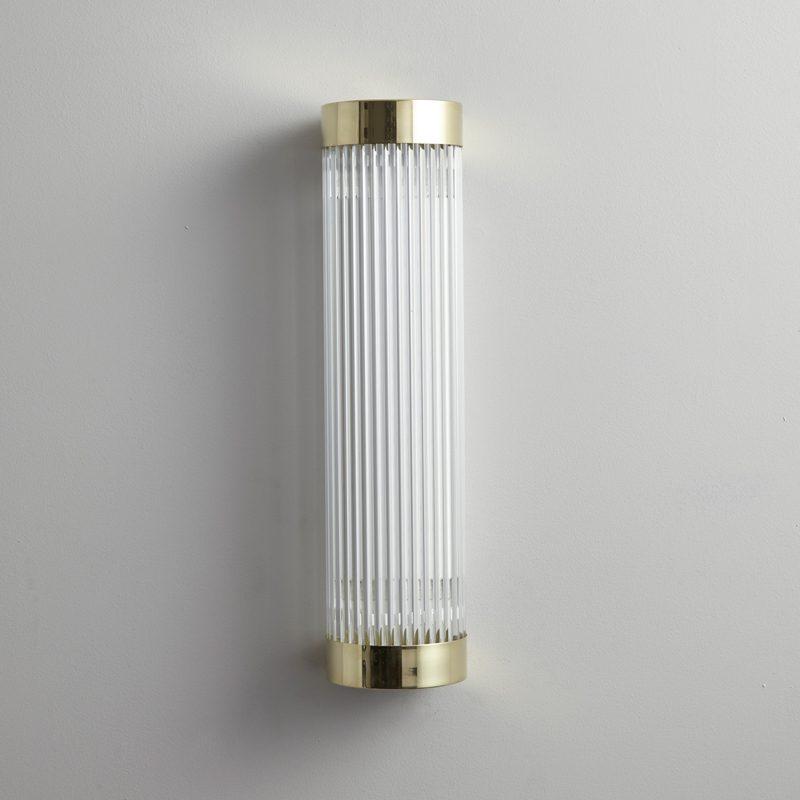 Davey Lighting Narrow Pillar 40 Led Wall Light Polished Brass B Off