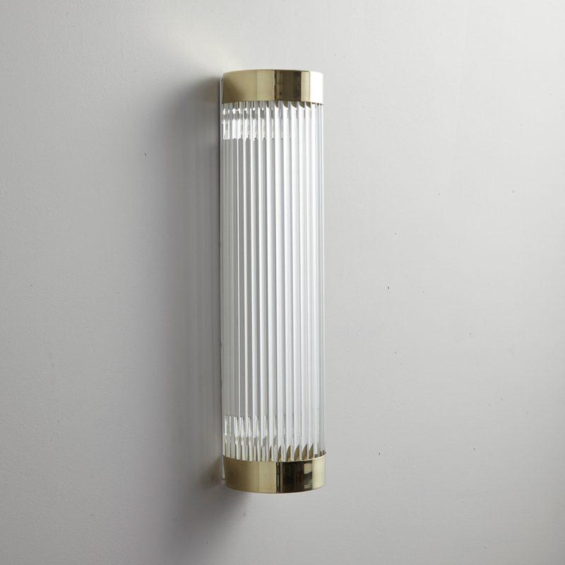Davey Lighting Narrow Pillar 40 Led Wall Light Polished Brass Off