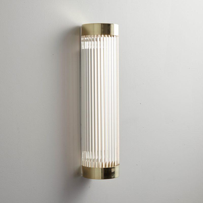 Davey Lighting Narrow Pillar 40 Led Wall Light Polished Brass On